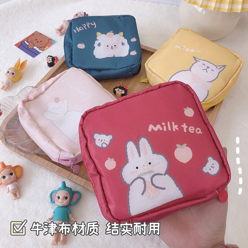 可愛衛生巾收納包姨媽巾袋子便攜隨身大容量衛生棉m巾月事小包