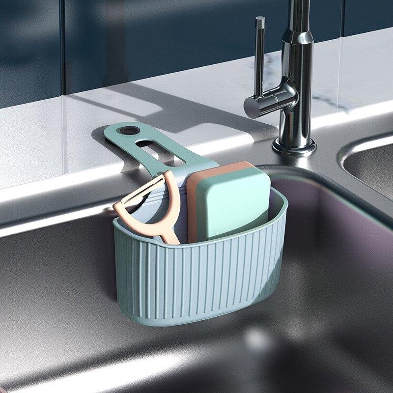 ,免運&掛袋 瀝水掛袋 水槽瀝水架 置物袋 瀝水架 廚房水槽 海綿水池收納掛籃 PVC 收納 廚房收納