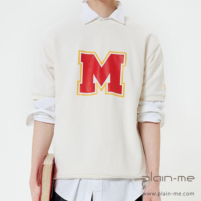 【plain-me】MAIN BOOTH 短袖套頭上衣 M Logo Half Sweatshirt MBT0138
