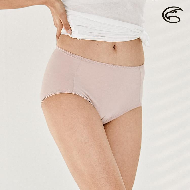 【下殺↘】ADISI 女高腰彈性抗菌三角內褲AUP1911048 (S-2XL) 和風紫 / 城市綠洲