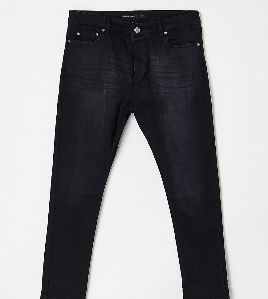 Brave Soul Plus ultimate skinny jeans in charcoal-Grey