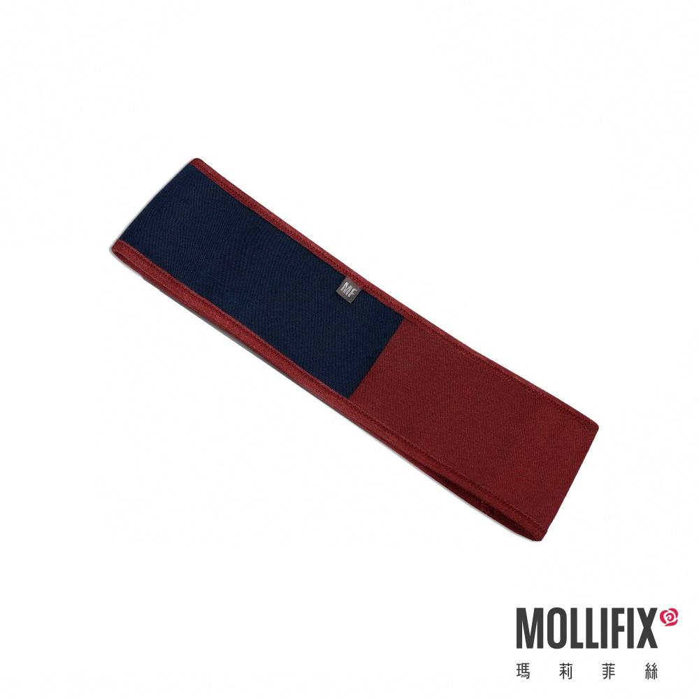 MOLLIFIX 瑪莉菲絲 健身環狀彈力帶 (藍+紅)