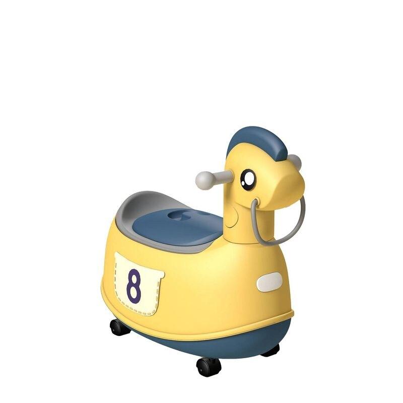 Jolly 時尚復古小馬座便器馬桶-黃色★愛兒麗婦幼用品★