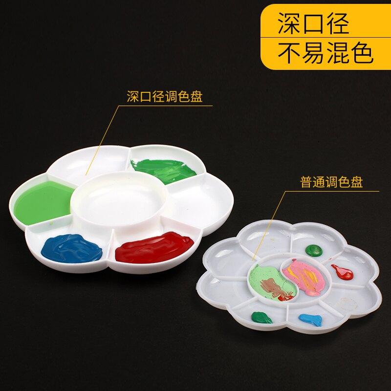 調色盤梅花型調色碟加厚調板水粉水彩畫調色盒油畫丙烯畫國畫顏料調色盤【HZL365】