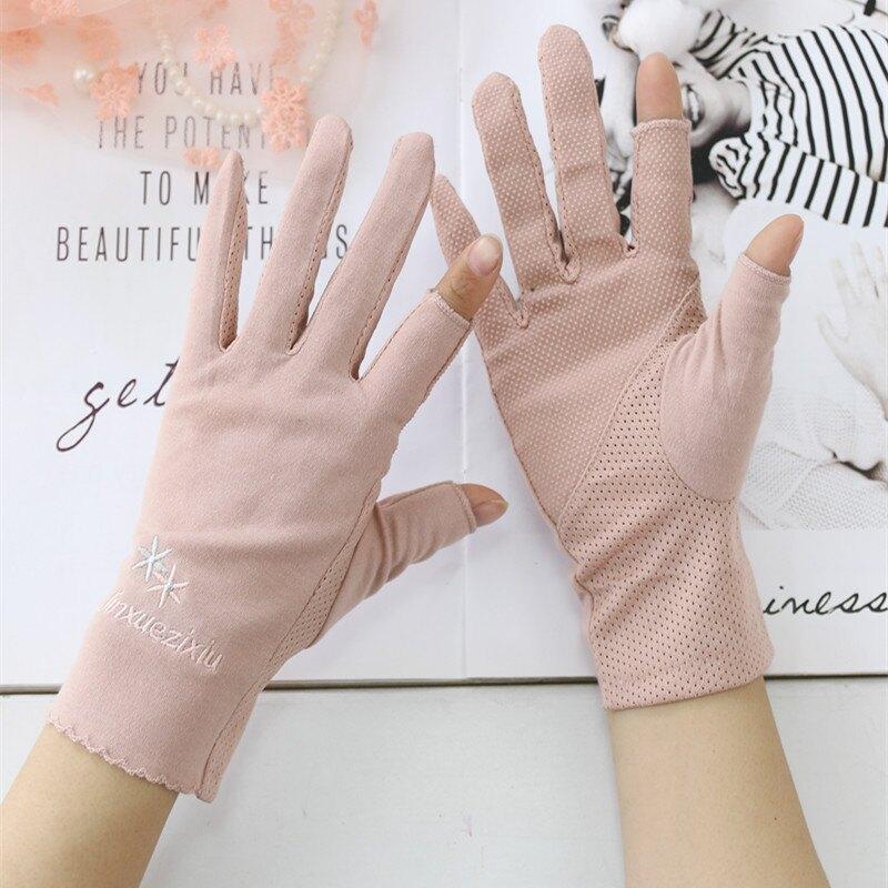 漏二指半指手套男女冬季韓版針織學生露兩指保暖手套騎車