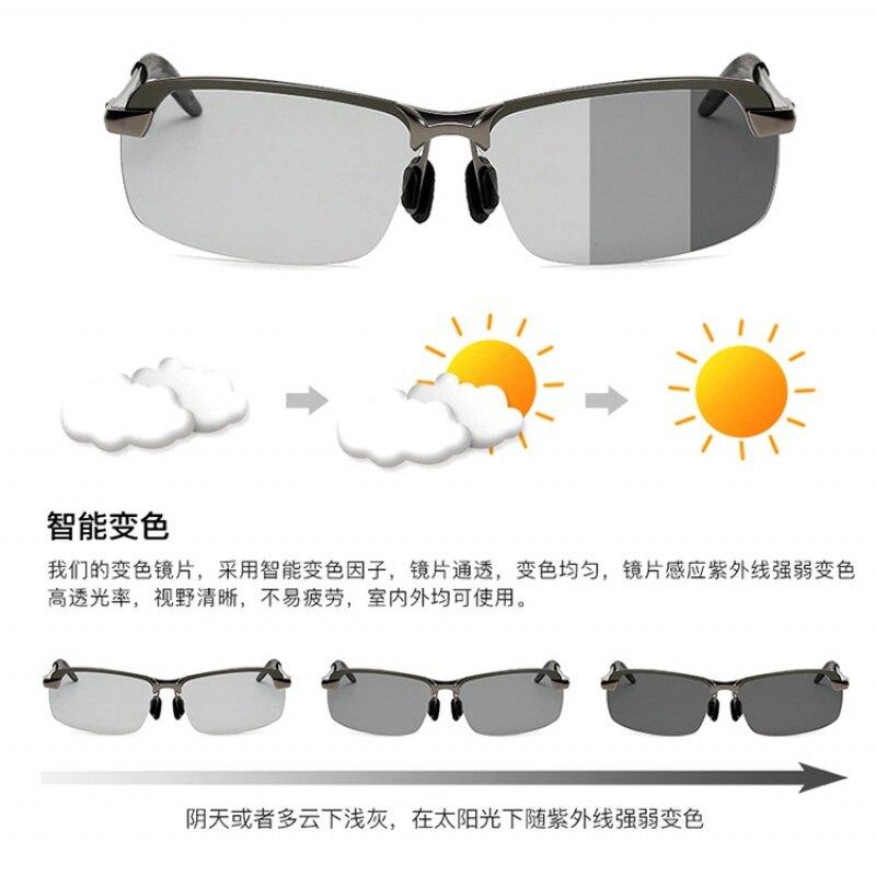 新款鋁鎂太陽鏡男士駕駛釣魚偏光墨鏡男開車專用司機潮男眼鏡