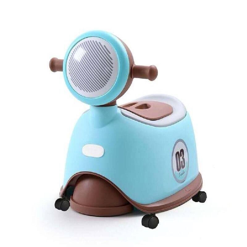 Jolly 時尚機車座便器馬桶-淺藍色★愛兒麗婦幼用品★