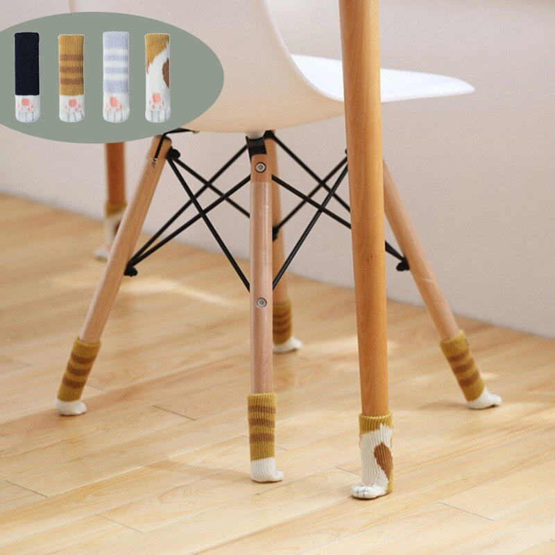 貓腳椅腳套 針織椅腳套 椅腳保護套 桌椅腳套 凳子腳套 桌椅腿套 桌腳套 桌椅套 門把套 靜音防滑