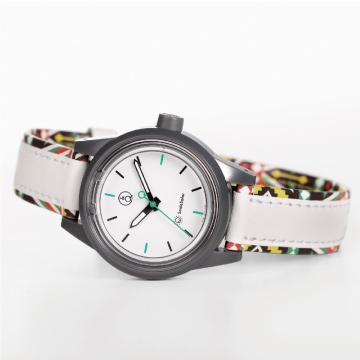 Q&Q SmileSolar MINI異國系列 023太陽能手錶-菲律賓白/30mm