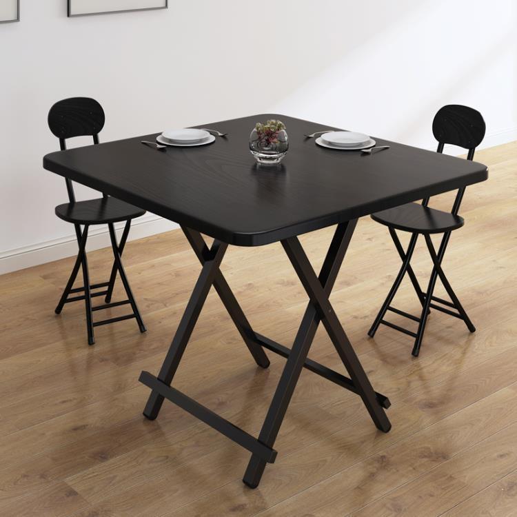 折疊桌 家用餐桌吃飯桌簡易4人飯桌小方桌便攜戶外擺攤正方形桌子【免運】