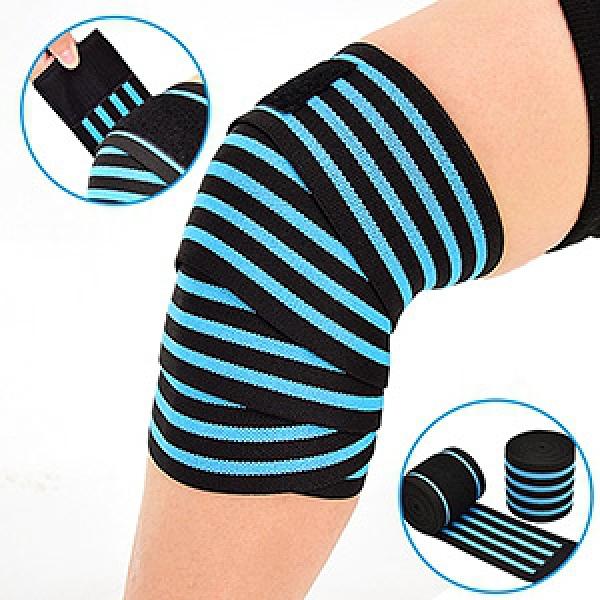 彈性加壓護膝蓋(籃球足球綁腿繃帶.彈力健身護膝套.護腿套束腿套.膝關節纏繞助力帶.大腿小腿)