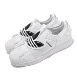 adidas 休閒鞋 Superstar SlipOn 男女鞋 愛迪達 貝殼頭 大logo 簡約 穿搭 白 黑 GZ8399 [ACS 跨運動]