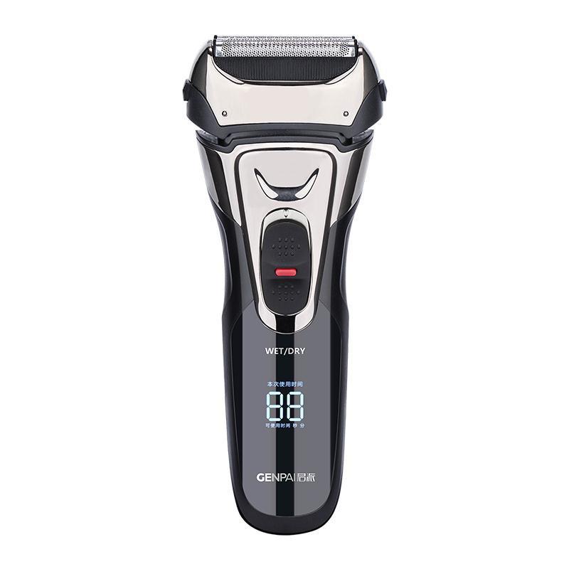 君派往復式剃須刀電動智能數顯全身水洗胡須刀充電式刮胡子刀男/可開超取