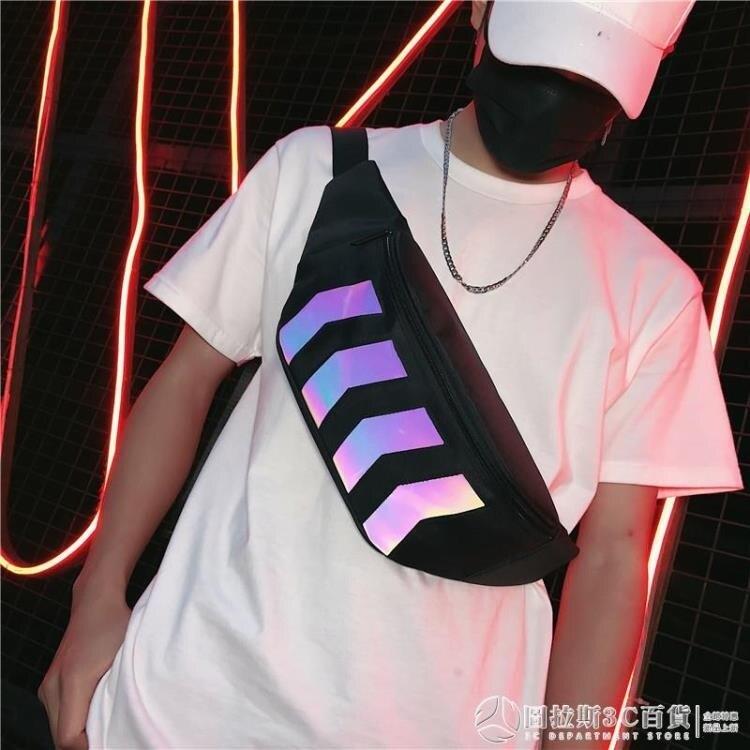 斜挎包男ins潮小包 日系腰包女街頭嘻哈男士背包學生單肩胸包