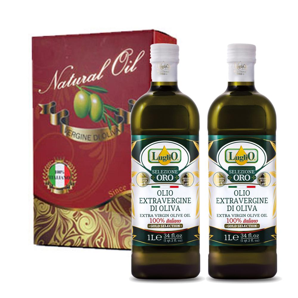 LugliO 義大利羅里奧精選特級初榨橄欖油禮盒組 1000mlx2入