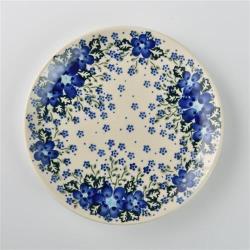 波蘭陶 青花涼夏系列 圓形餐盤 19cm 波蘭手工製