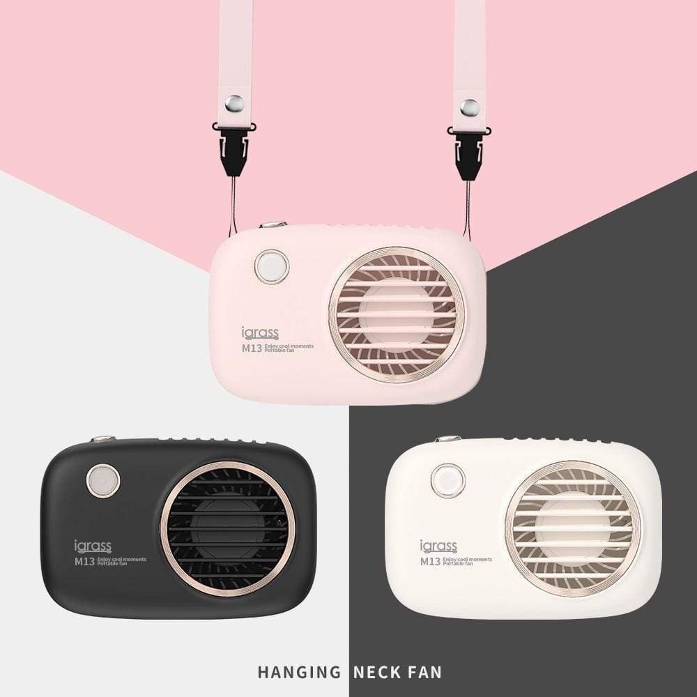 相機掛脖風扇 粉/白/黑 任意組合 2入組 粉色 + 粉色