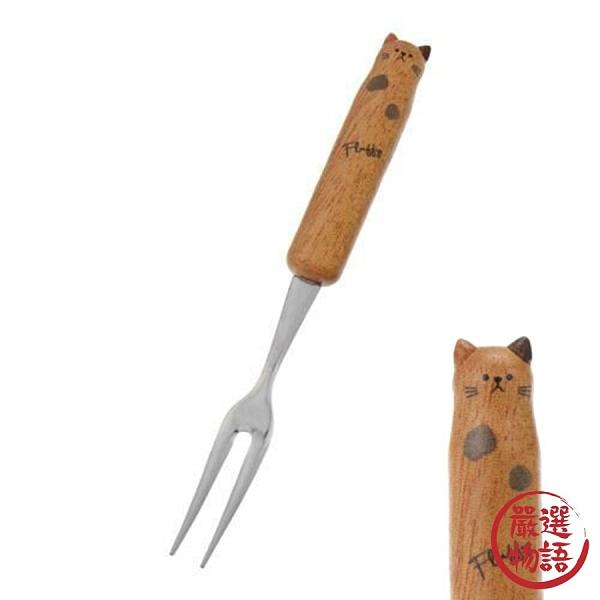 【日本製】【Fluffy】造型叉子 圓點貓款 12cm(一組:3個) SD-13643 - Fluffy