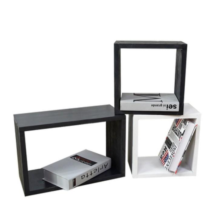 置物架 創意木格子置物架 玩具收納架 桌面實木自由組合書架 裝飾簡易落地儲物櫃 居家多功能收納架 簡約置物格子/可開超取