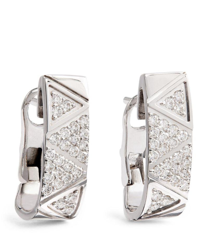 Alessa White Gold And Diamond Elixir Hoop Earrings