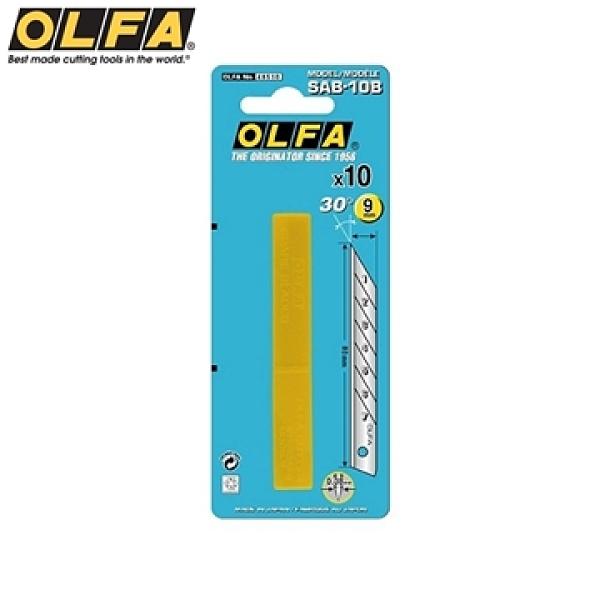 【南紡購物中心】日本OLFA折斷式刀片SAB-10B替刃30°