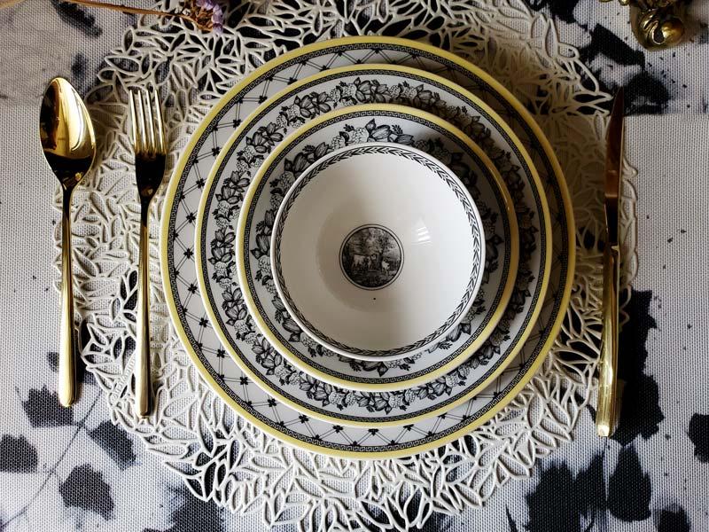 德國Villeroy&Boch 奧頓 Audun系列-四件碗盤禮盒組