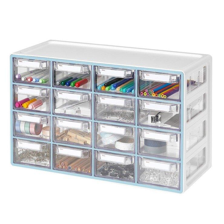Sysmax 桌上型多用途收納盒16格抽屜-薄荷色