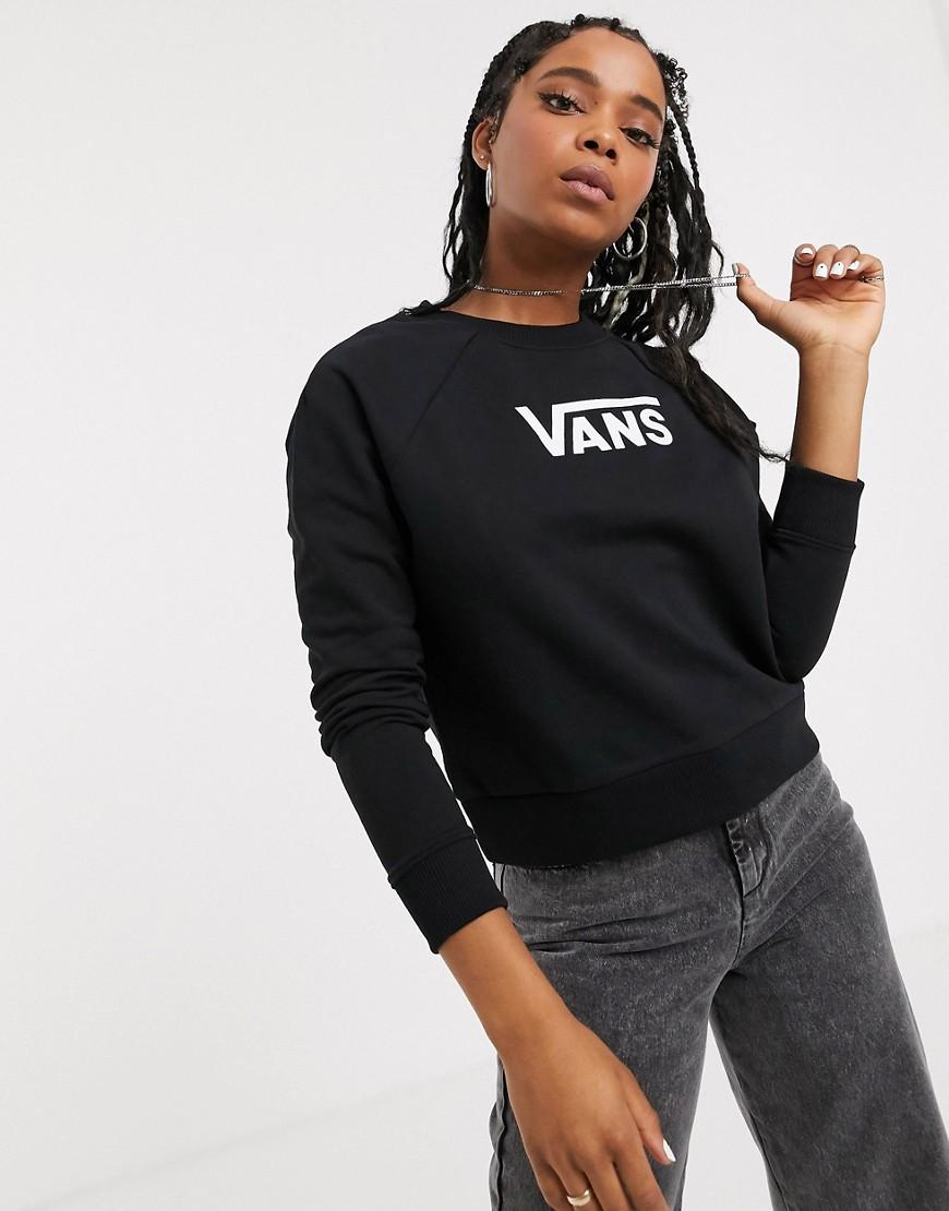 Vans Flying V Boxy sweatshirt in black
