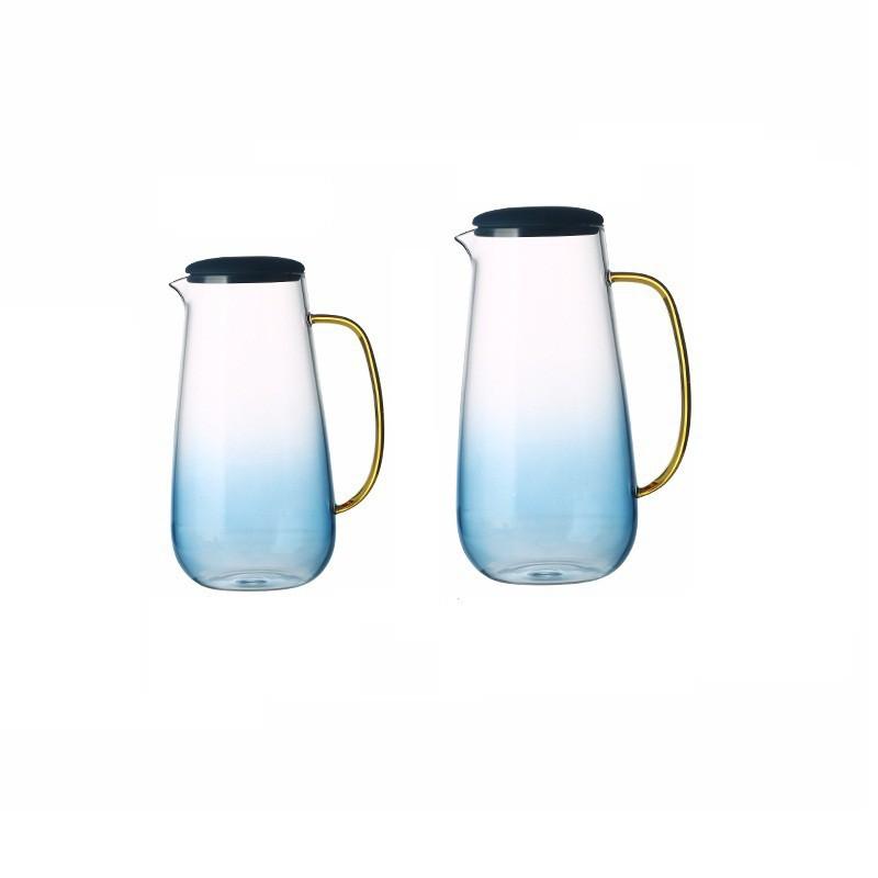 云石玻璃冷水壺涼水壺家用耐高溫大容量涼水杯耐熱防爆涼茶果汁壺/可開超取
