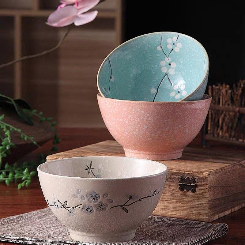 4.5吋雪梅日式陶瓷碗 -