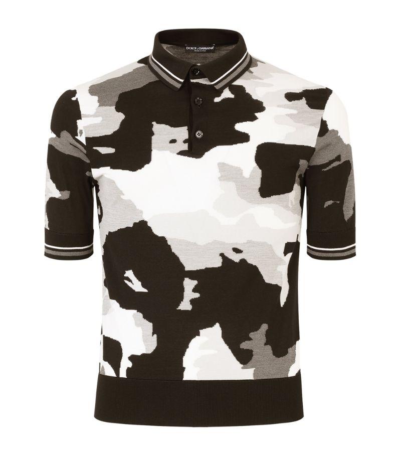 Dolce & Gabbana Camouflage Polo Shirt