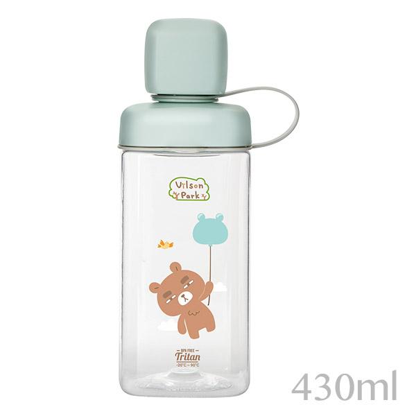 【Vilson Park X KOMAX】聯名韓製TRITAN水瓶430ml-SLOW熊