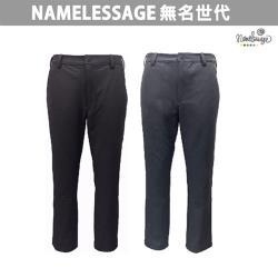 日本namelessage無名世代男款抗UV彈性休閒長褲(深咖/深灰)_91M805