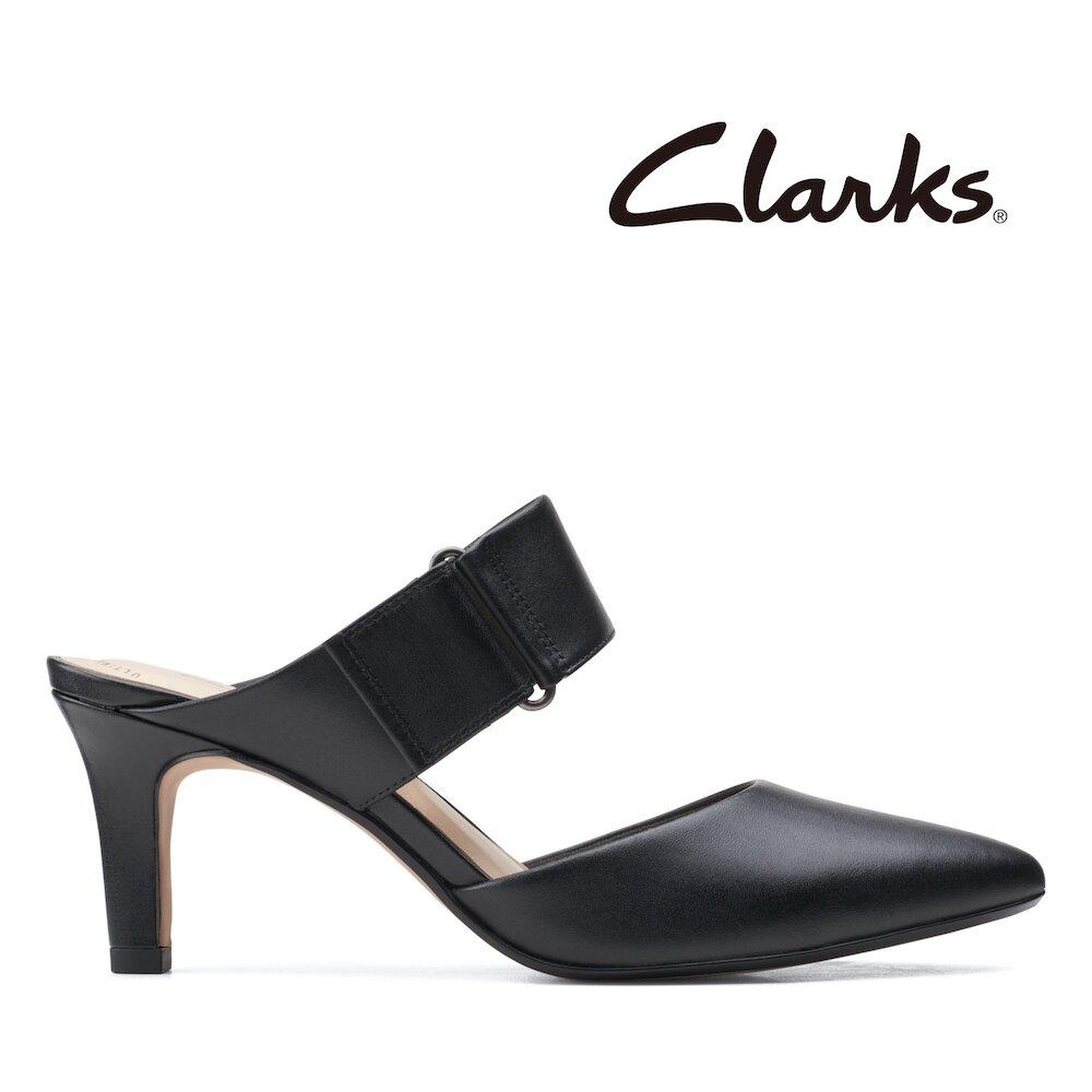 Clarks都會女伶-Illeana Daisy正裝魔鬼氈高根鞋(黑色)