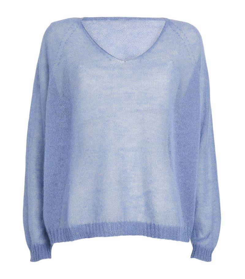 Max & Co. Mohair-Blend V-Neck Sweater