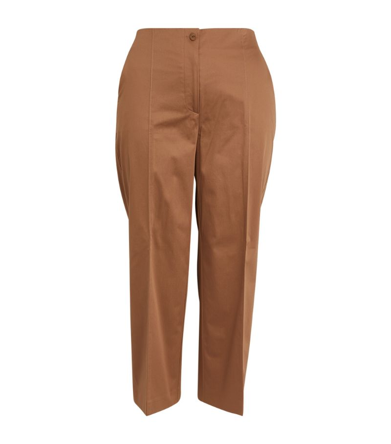 Marina Rinaldi Stretch-Cotton Straight Trousers