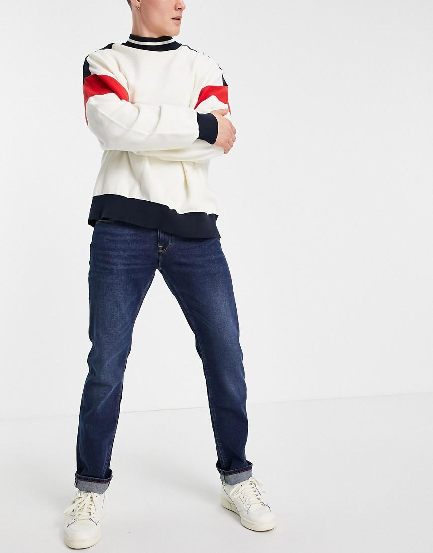 Tommy Hilfiger straight denton jeans-Blue