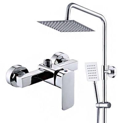 全銅暗裝花灑套裝 升降淋雨器 淋浴器 浴室熱水器 花灑 噴頭 龍頭混水閥/可開超取