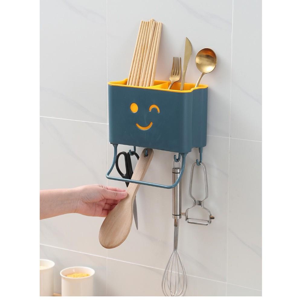 多功能筷子簍置物架 壁掛式瀝水筷子置物架 瀝水快子簍 浴室收納置物架 瀝水置物架 多功能收納