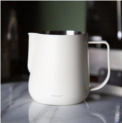 金時代書香咖啡 Minos 米家不鏽鋼拉花缸 300ml 白色 Minos-300-WH