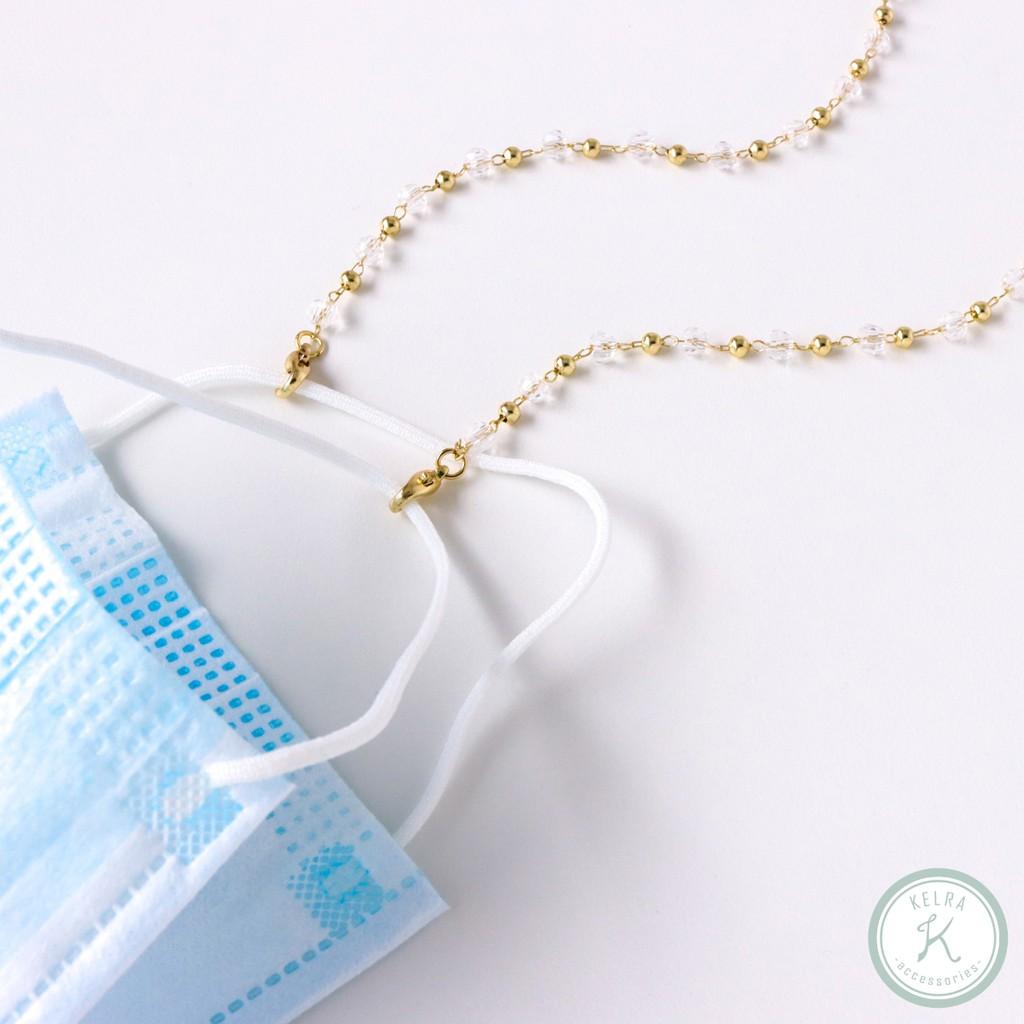 【KELRA】午後晴空輕透質感小圓珠口罩鍊