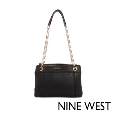 NINE WEST ELLIE素色鍊帶肩背包-黑(116811)