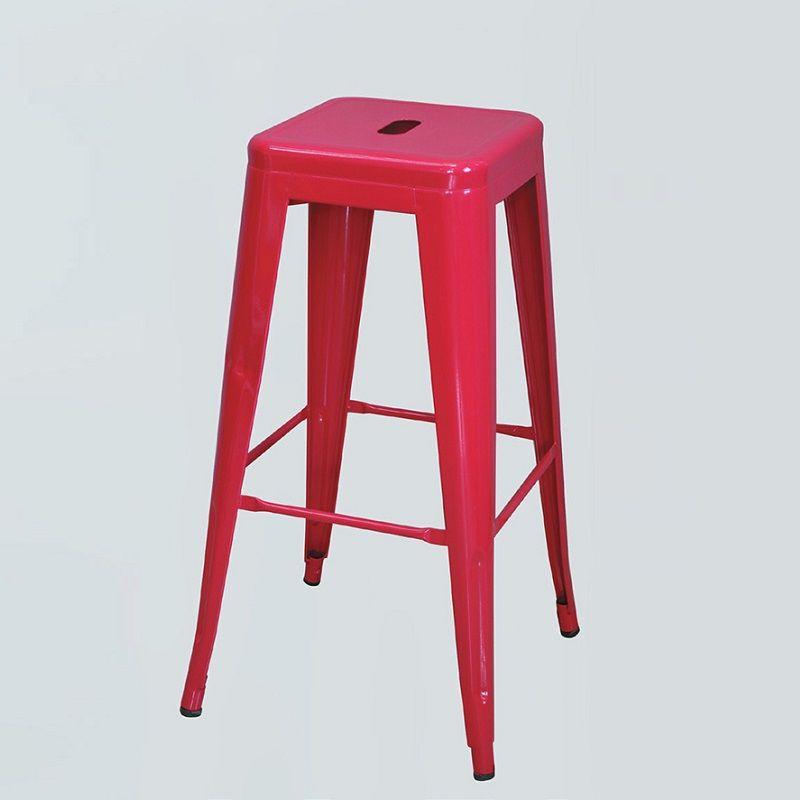 【CB11-236】全鋼吧台椅(紅色)