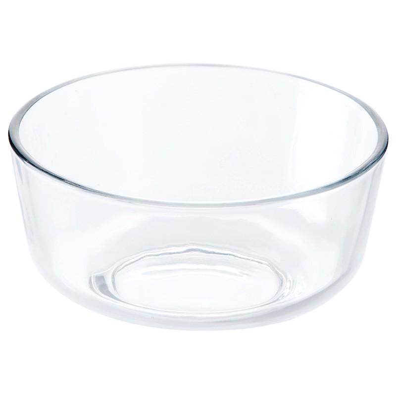 創意透明玻璃碗甜品沙拉碗吃飯碗家用餐具廚房圓形玻璃面碗水果碗/可開超取