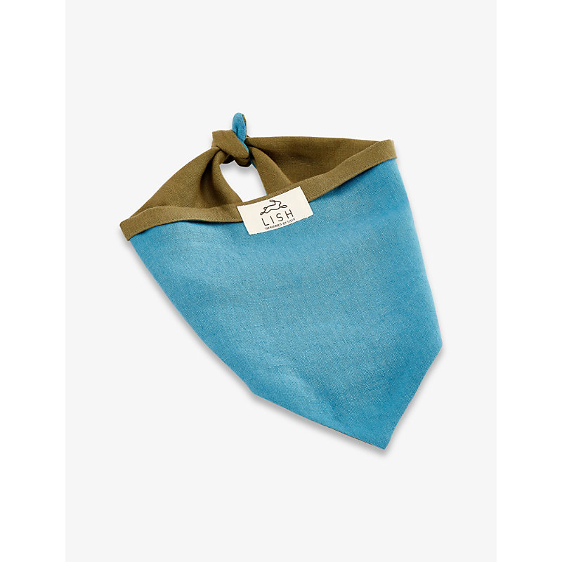 Dibden medium linen dog scarf