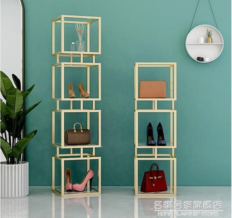 鞋店鞋架展示架貨架置物架多層商用服裝店包包架設計師網紅鞋包架