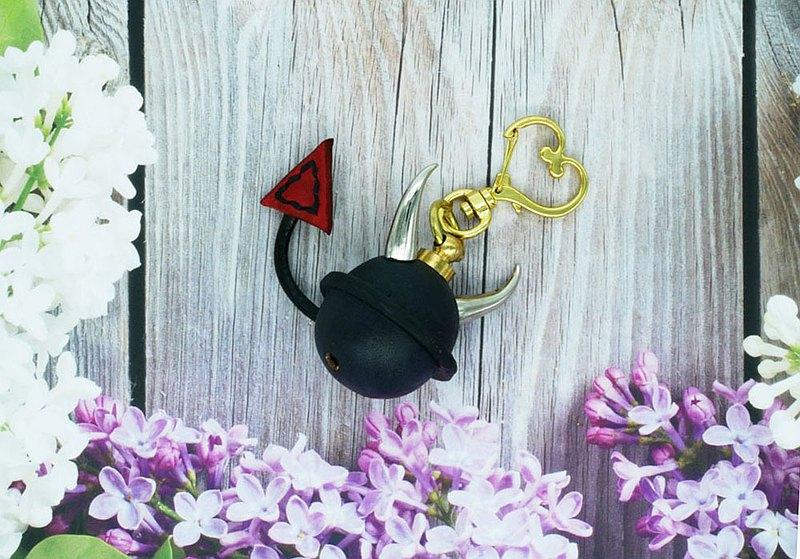 真皮小惡魔鈴噹鑰匙圈   皮革造型