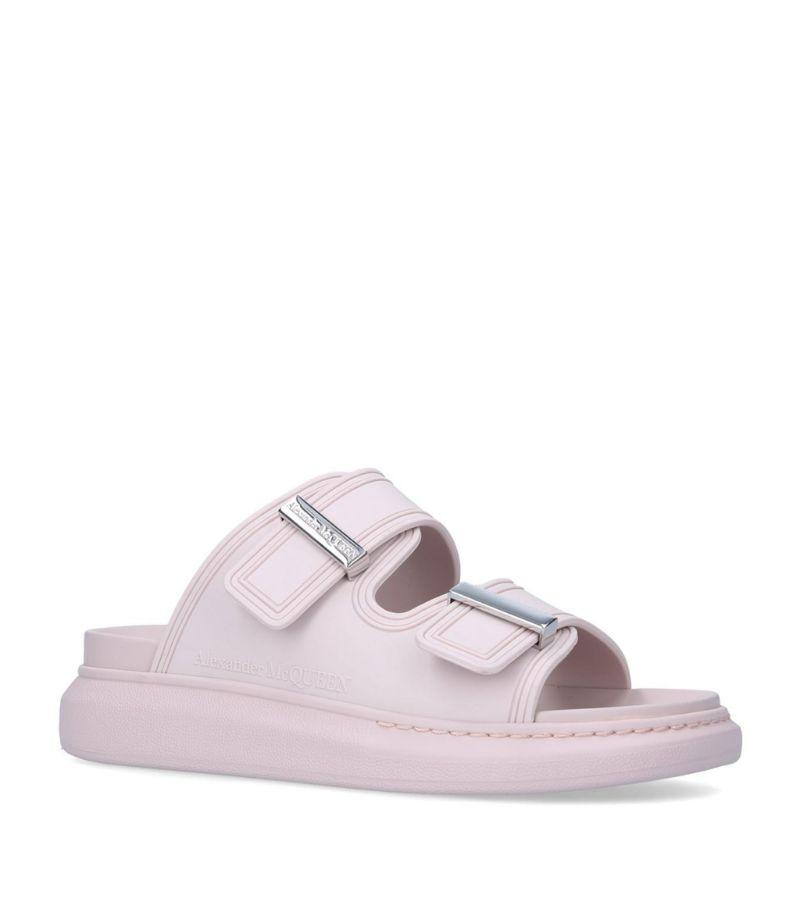 Alexander Mcqueen Leather Runway Buckle Sandals