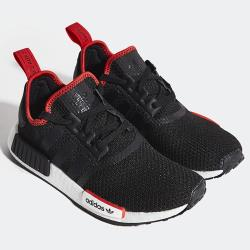 ADIDAS NMD_R1 男鞋 女鞋 慢跑 休閒 BOOST 透氣 經典 襪套 黑 紅【運動世界】FZ3449