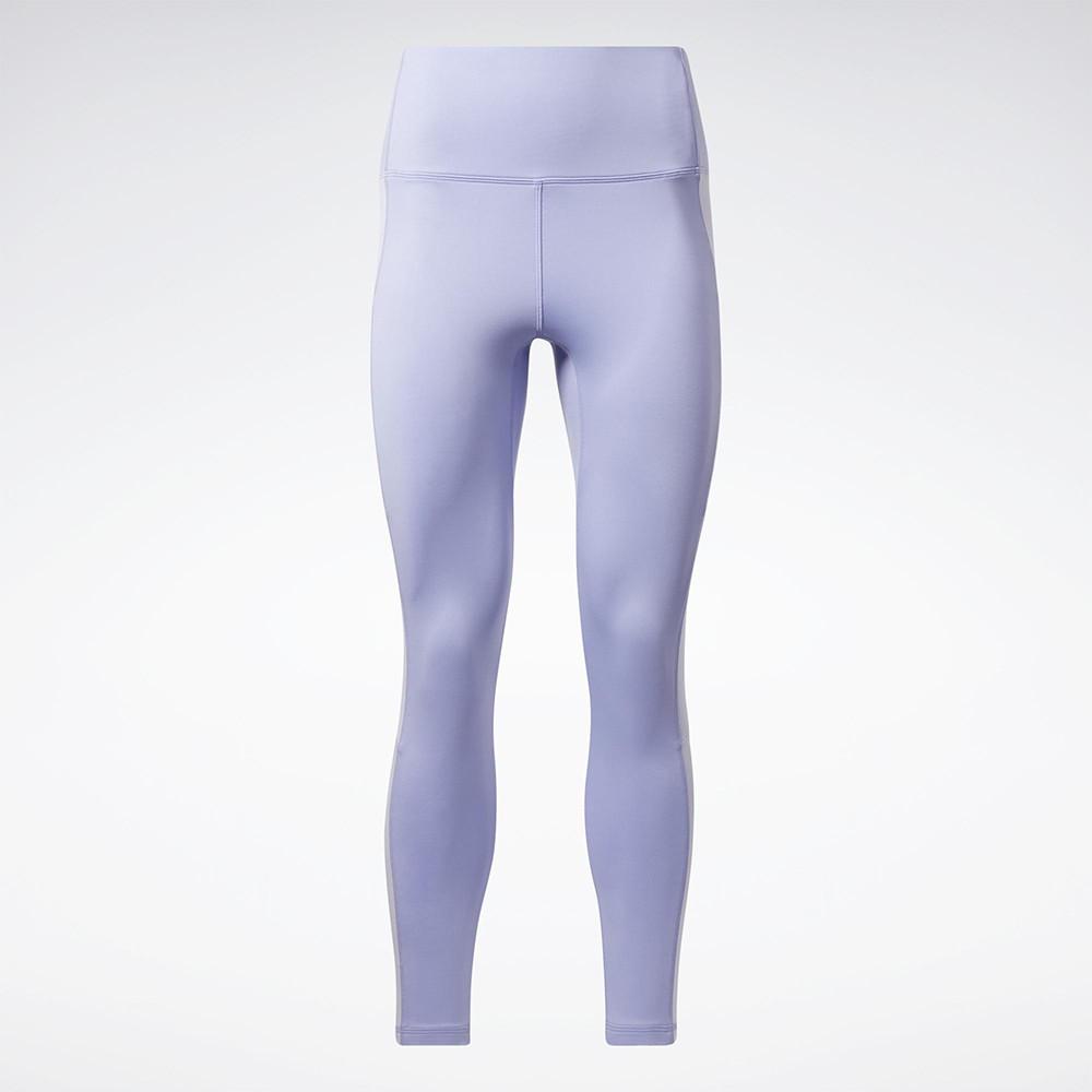 REEBOK KIREIFIT 女裝 長褲 緊身 訓練 慢跑 高腰 透氣 紫【運動世界】GT6330